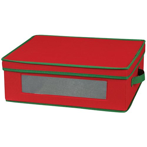 Household Essentials Holiday Cup Lidded Storage Chest