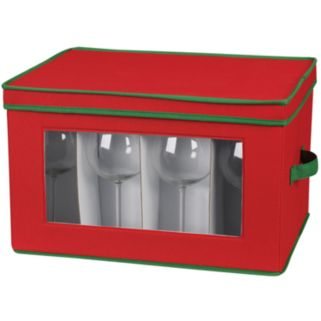 Household Essentials Holiday Balloon Goblet Lidded Storage Chest