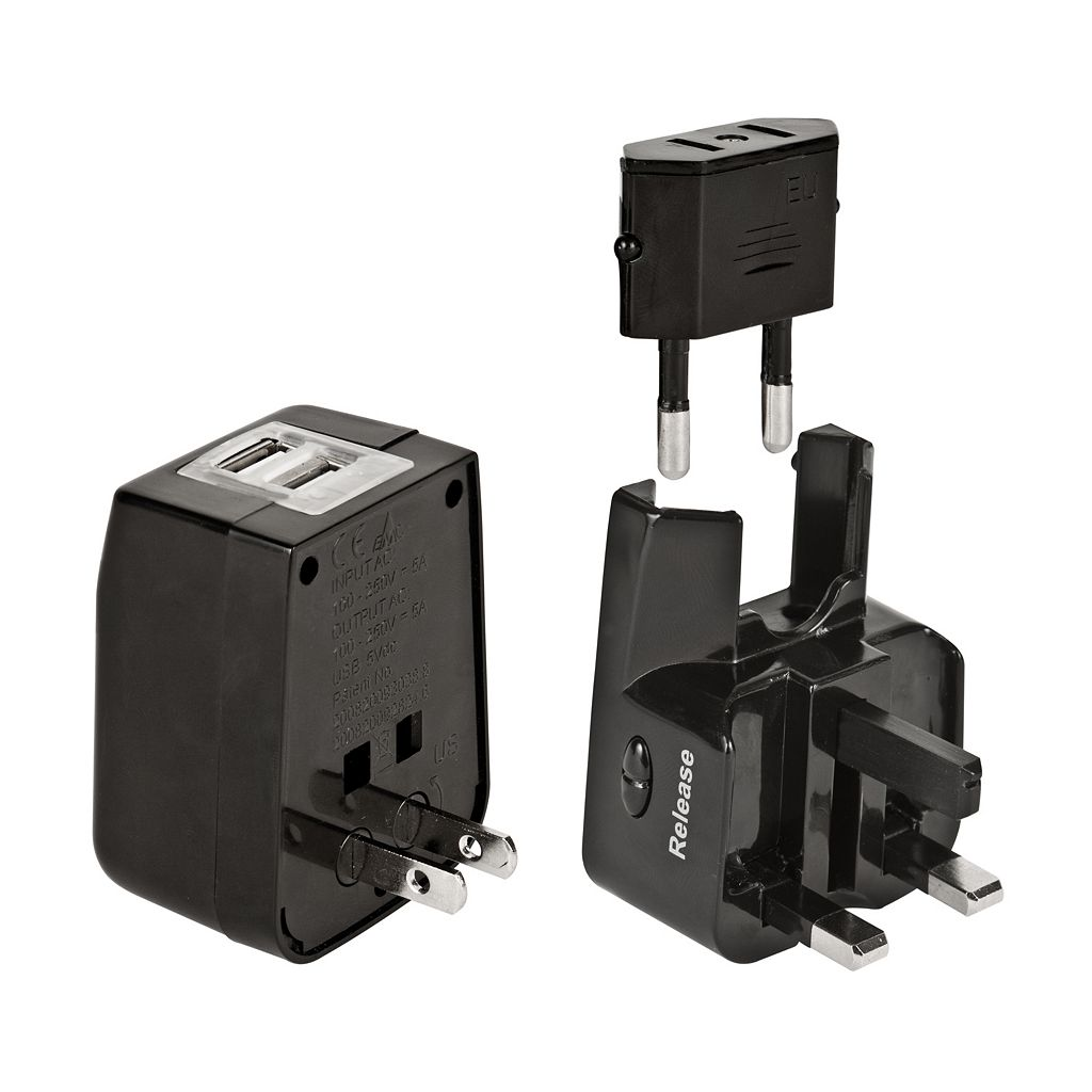 Travelon International Dual USB Charger and Adapter