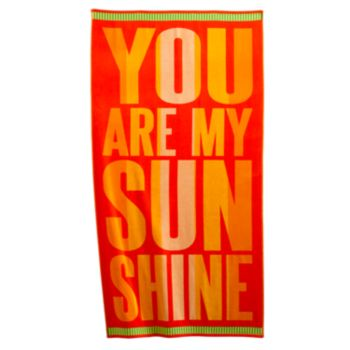 "Sale alerts for  SONOMA outdoors™ ""You Are My Sunshine"" Beach Towel - Covvet"