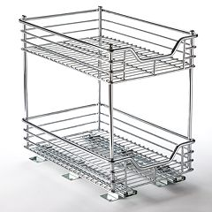 Glidez 2 tier Sliding Under-Cabinet Organizer