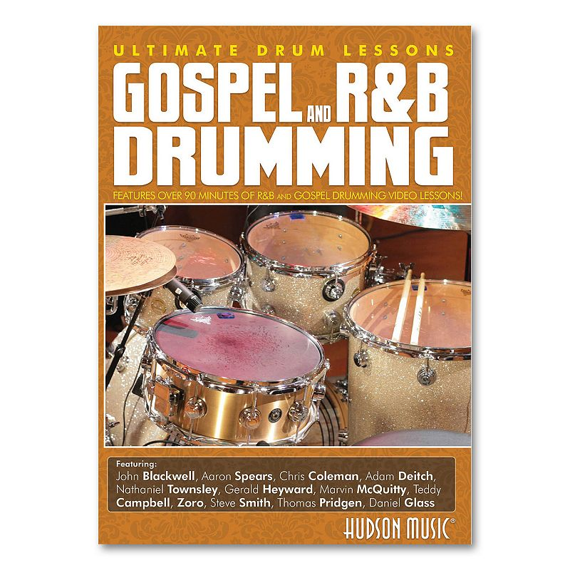 Gospel and R and B Drumming Instructional DVD - Drums, Multicolor This Ultimate Drum Lessons DVD will enhance your understanding and appreciation of the power and excitement that make up modern gospel and R&B drumming. : Over 90 minutes of drumming video lessons. Performances by some of today's greatest drummers. Bonus discussion with Jeff Davis about the Gospel style. : Title: Ultimate Drum Lessons: Gospel and R&B Drumming Instrument: drum set Level: intermediate to advanced Publisher: Hudson Music Total running time: 2 hours Original release date: April 5, 2011 Ibsn: 9781423499862 Model no. DD1160 Color: Multicolor.