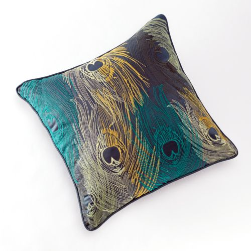 Jennifer Lopez bedding collection Exotic Plume Embroidered Decorative Pillow