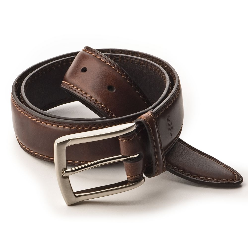 Dockers Stitched Leather Belt