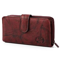 Buxton Heiress Leather Checkbook Clutch Wallet