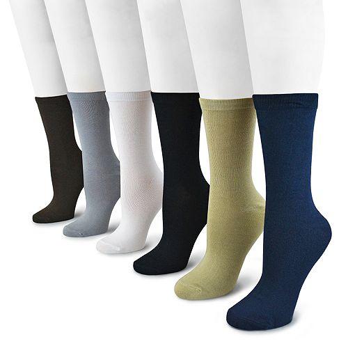 MUK LUKS 6-pk. Solid Crew Socks