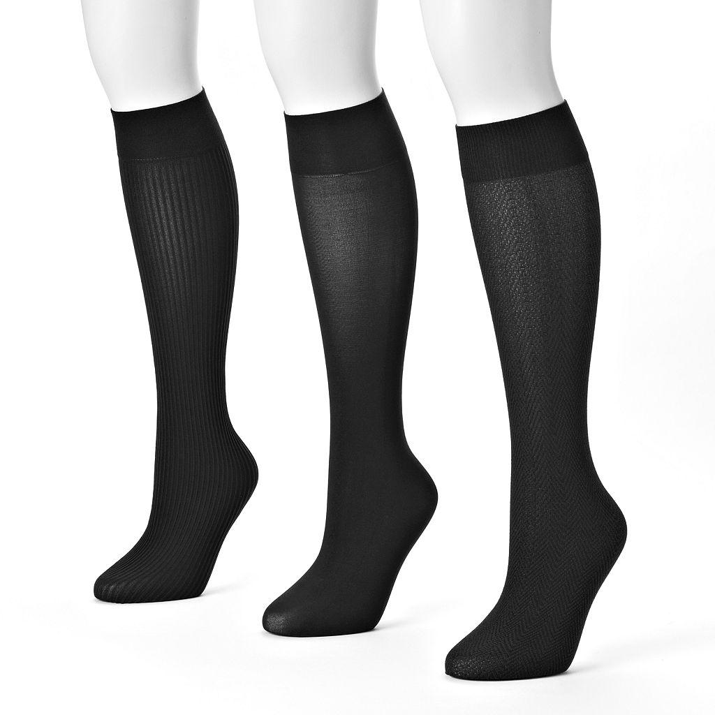 MUK LUKS 3-pk. Trouser Socks