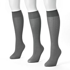 MUK LUKS 3-pk. Trouser Socks
