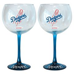 Los Angeles Dodgers 2 pc Wine Glass Set