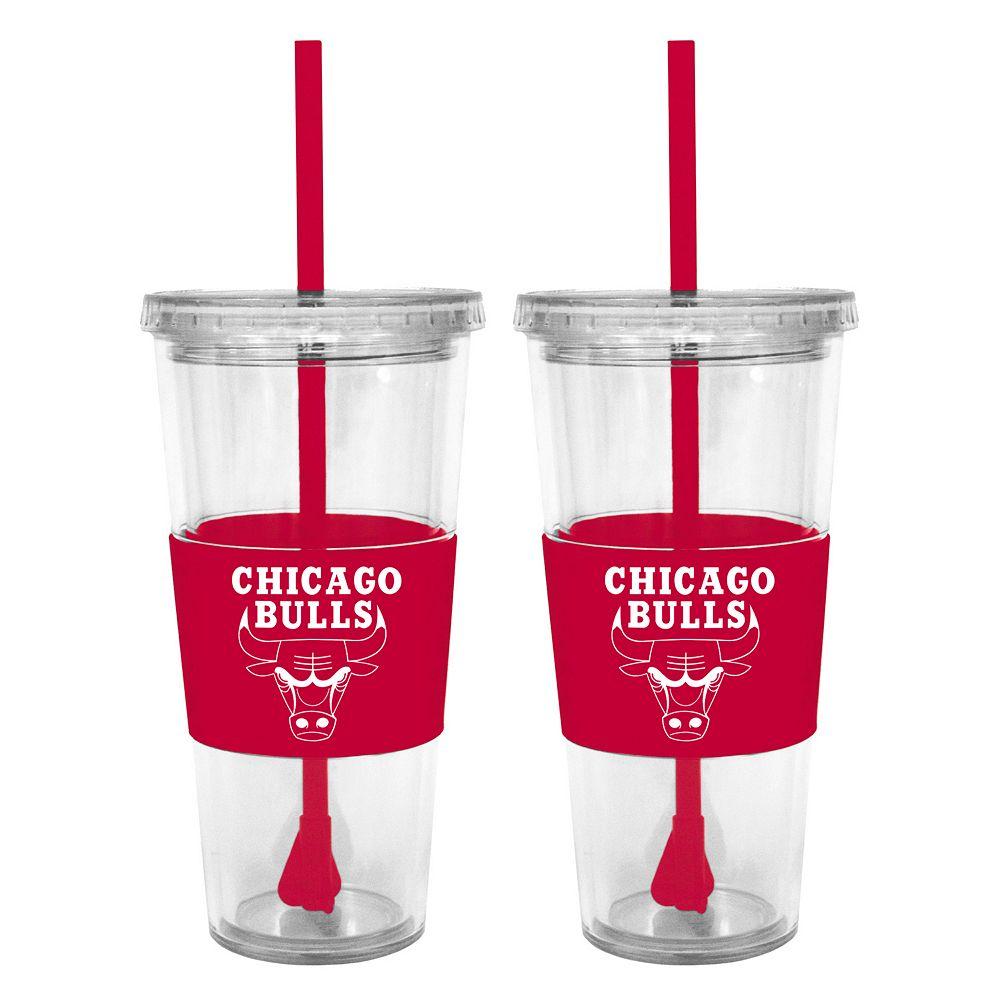Chicago Bulls 2-pc. Double-Walled Straw Tumbler Set