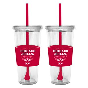 Chicago Bulls 2-pc. Double-Walled Straw Tumbler Set