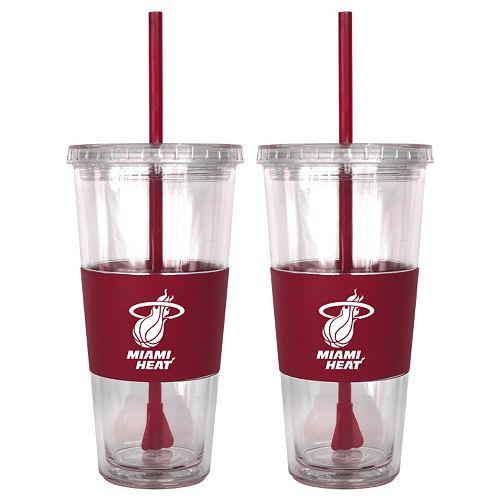 Miami Heat 2-pc. Double-Walled Straw Tumbler Set