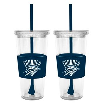 Oklahoma City Thunder 2-pc. Double-Walled Straw Tumbler Set