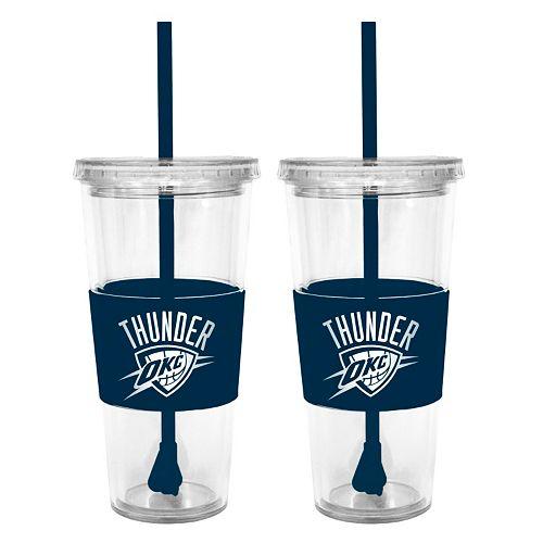 Oklahoma City Thunder 2-pc. Double-Walled Straw Tumbler Set