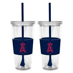 Los Angeles Angels of Anaheim 2-pc. Double-Walled Straw Tumbler Set