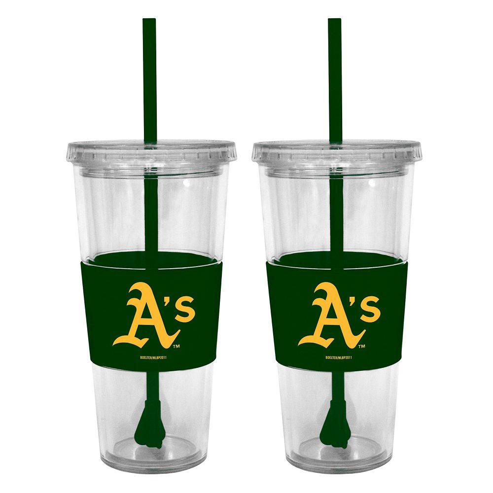 Oakland Athletics 2-pc. Double-Walled Straw Tumbler Set