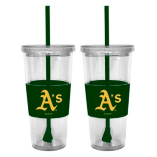 Oakland Athletics 2-pc. Double-Walled Straw Tumbler Set