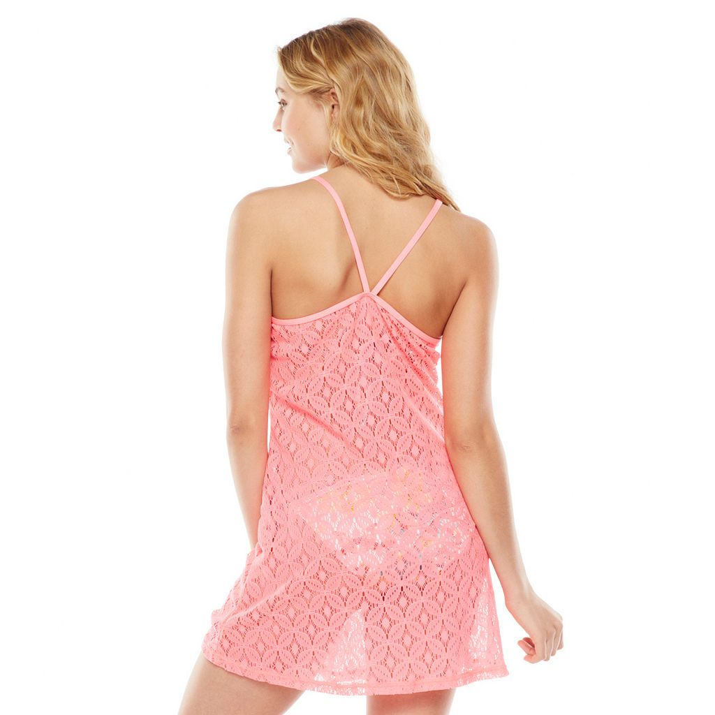 SO Crochet Ruffle Cover-Up - Juniors