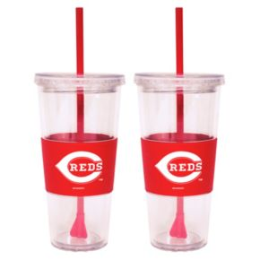 Cincinnati Reds 2-pc. Double-Walled Straw Tumbler Set