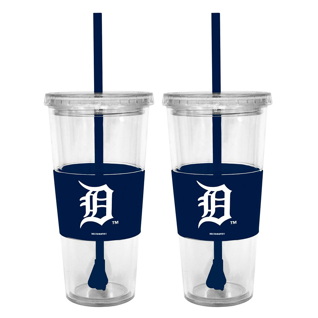 Detroit Tigers 2-pc. Double-Walled Straw Tumbler Set