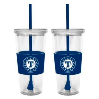 Texas Rangers 2-pc. Double-Walled Straw Tumbler Set