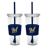 Milwaukee Brewers 2-pc. Double-Walled Straw Tumbler Set