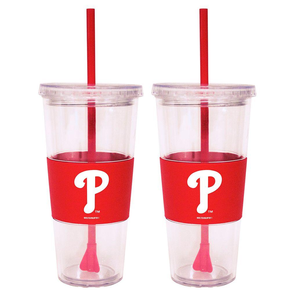 Philadelphia Phillies 2-pc. Double-Walled Straw Tumbler Set