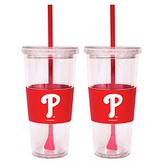 Philadelphia Phillies 2-pc. Double-Walled Straw Tumbler Set