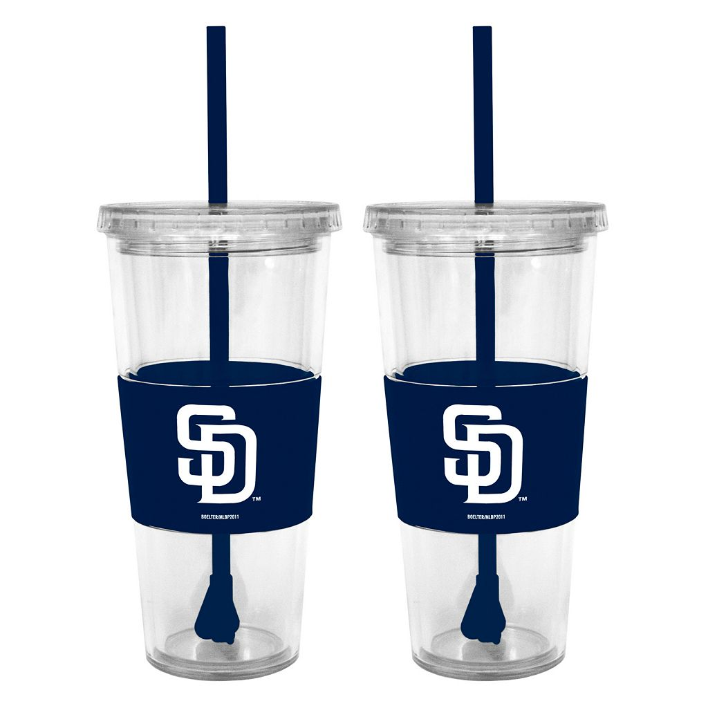 San Diego Padres 2-pc. Double-Walled Straw Tumbler Set
