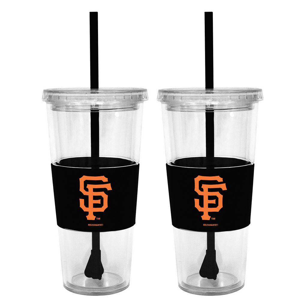 San Francisco Giants 2-pc. Double-Walled Straw Tumbler Set