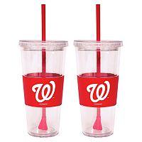 Washington Nationals 2-pc. Double-Walled Straw Tumbler Set