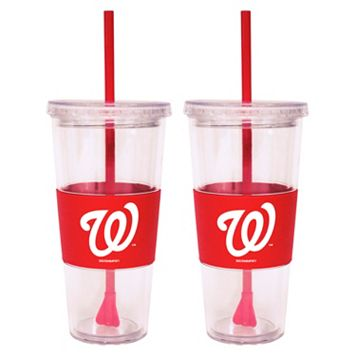 Washington Nationals 2-pc. Double-Walled Straw Tumbler Set