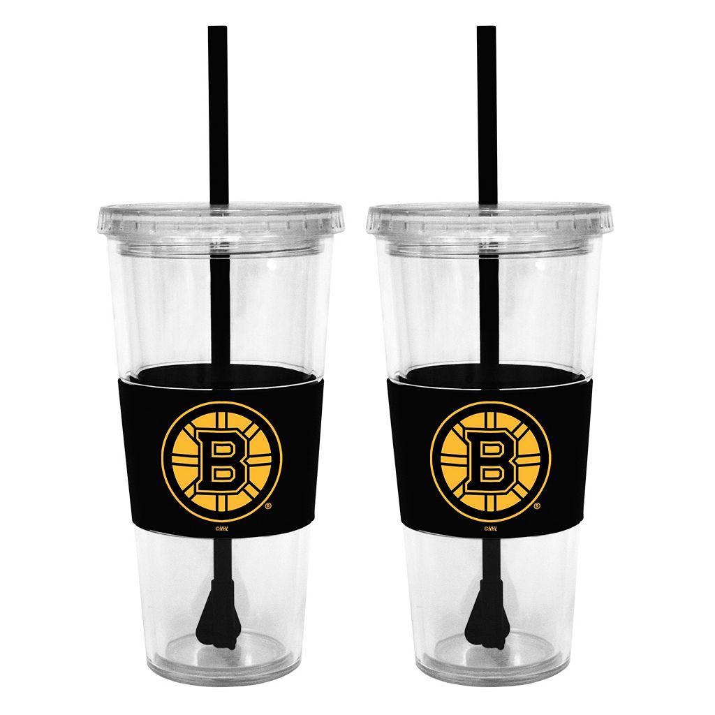Boston Bruins 2-pc. Double-Walled Straw Tumbler Set