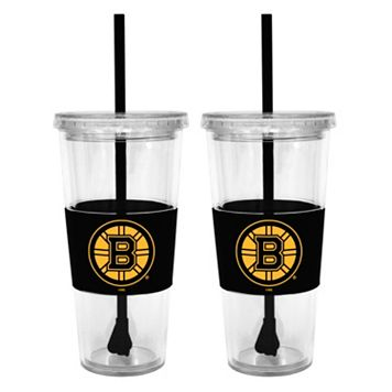 Boston Bruins 2-pc. Double-Walled Straw Tumbler Set