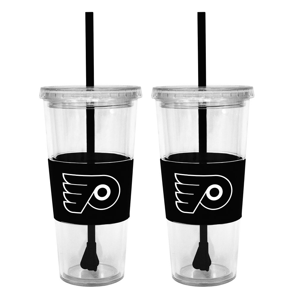 Philadelphia Flyers 2-pc. Double-Walled Straw Tumbler Set
