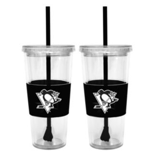Pittsburgh Penguins 2-pc. Double-Walled Straw Tumbler Set