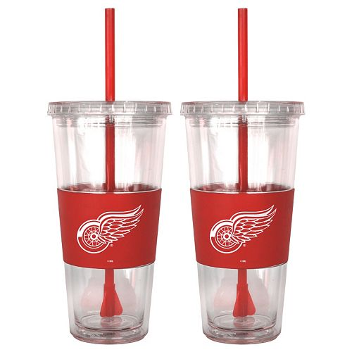 Detroit Red Wings 2-pc. Double-Walled Straw Tumbler Set