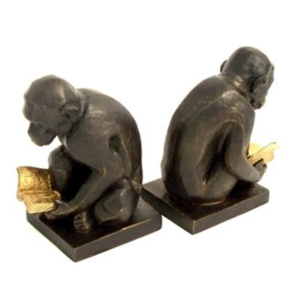 Reading Monkey Book Ends