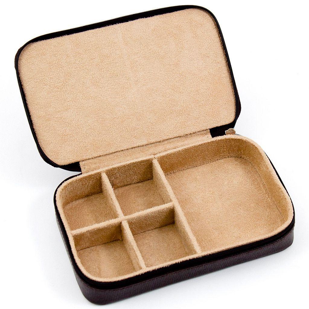 Leather Multi-Compartment Jewelry Box
