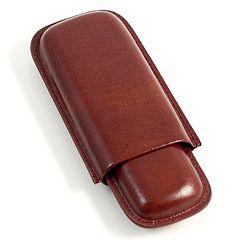 Leather Telescoping Double Cigar Case