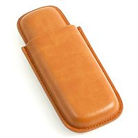 Leather Telescoping Double Cigar Case
