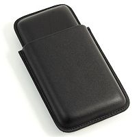 Leather Telescoping Triple Cigar Case