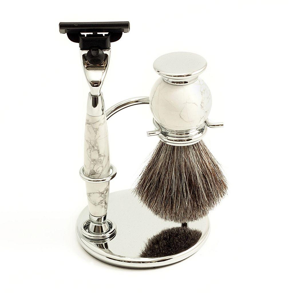 Mach 3 Razor & Badger Brush Shaving Set