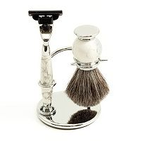 Mach 3 Razor & Badger Brush Shaving Set