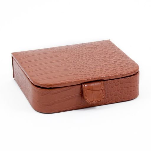 Crocodile Leather Jewelry Case