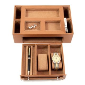 Leather Open-Face Valet Box