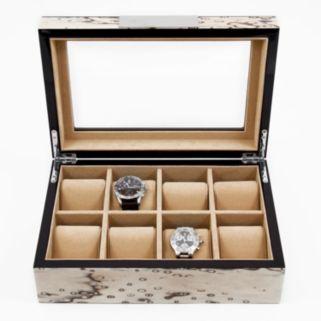 Exotic Ice Burl Wood Watch Storage Case