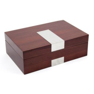 Lacquered Walnut Wood Watch Box