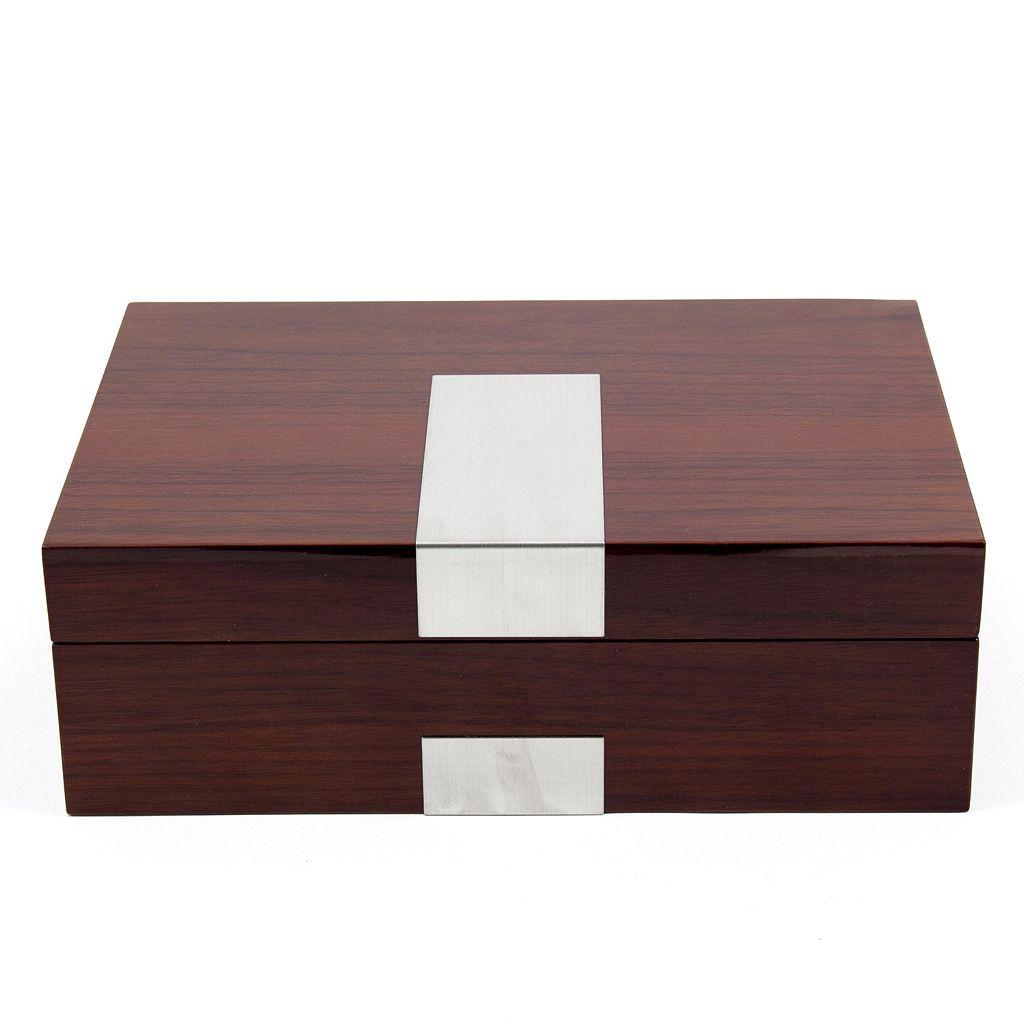 Lacquered Walnut Wood Watch Box