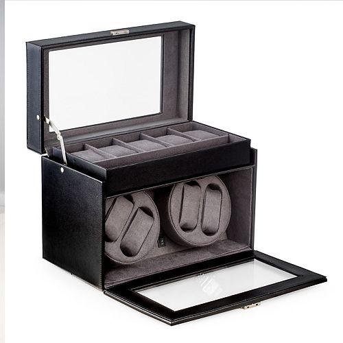 Leather Watch Winder & Storage Case